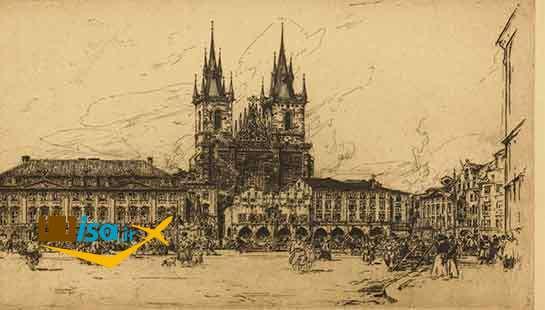 تصویر قدیمی از شهر پراگ