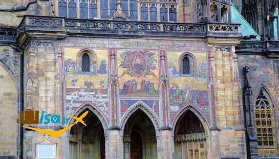 طرح موزاییک از اثر «آخرین حکم» که زینت بخش کلیسای جامع سنت ویتوس است