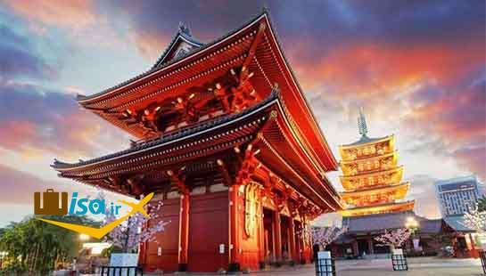 معبدی در آساکوسا ژاپن