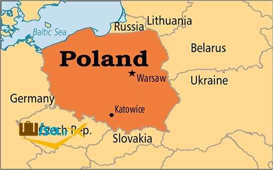 نقشه لهستان
