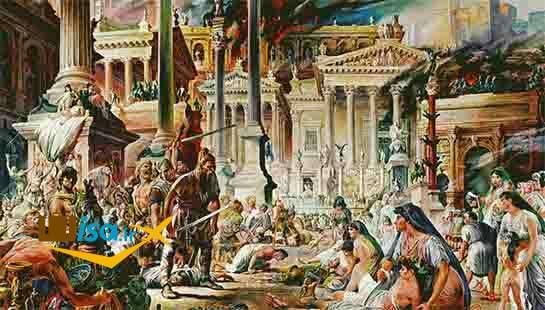 تاریخ اتریش (ظهور امپراتوری بربر در اروپای غربی با فروپاشی امپراتوری روم)