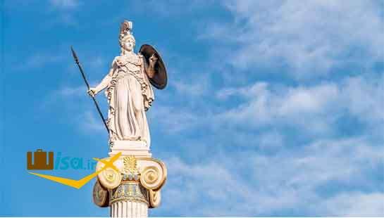 تاریخ یونان (مجسمه الهه آتنا)
