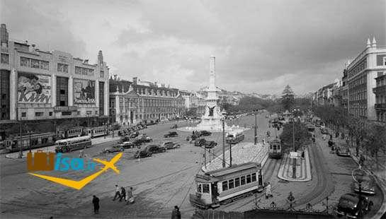 تصویر قدیمی از شهر لیسبون