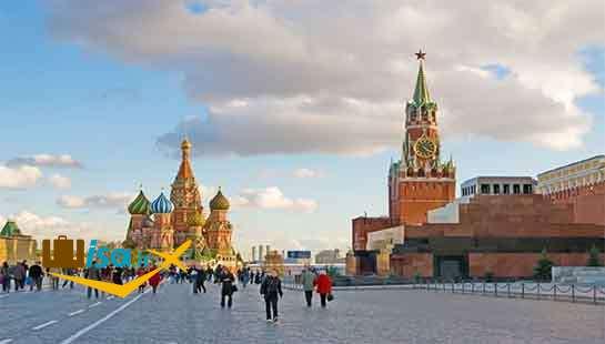 قسمتی از میدان سرخ مسکو