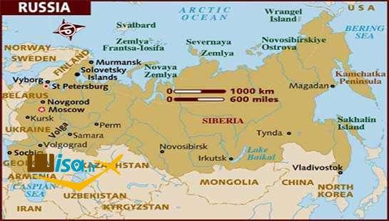 نقشه جغرافیایی روسیه
