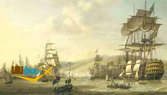 کشتی های اروپایی ها در سواحل آفریقای جنوبی