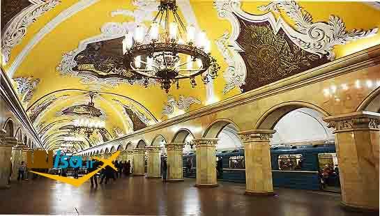 یکی از ایستگاه های مترو مسکو