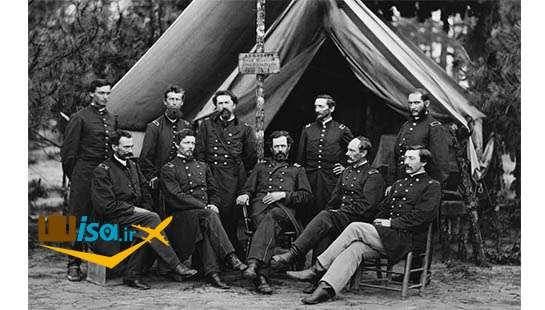 آمریکا درسال ۱۸۶۱ کمپ افسران آمریکایی