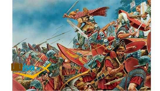تاریخ آلمان (جنگ رومی ها و ژرمن ها)