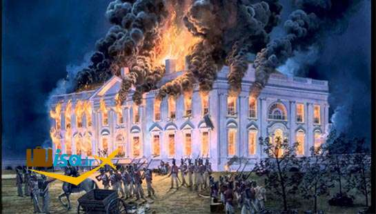 تاریخ آمریکا (کاخ سفید توسط انگلیسی هابه آتش کشیده شد)