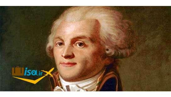 پرتره ماکسیمیلیان روبسپیر از رهبران انقلاب فرانسه