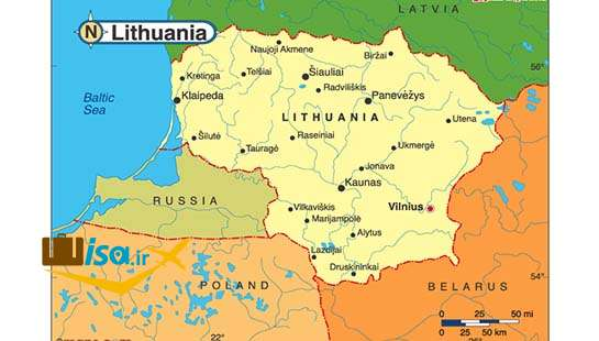 جغرافیای لیتوانی