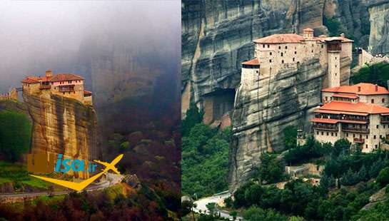 صومعه های متئورا از جاذبه های گردشگری یونان