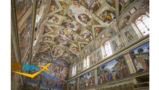 کلیسای سیستین (نمایی از نقاشی ها)
