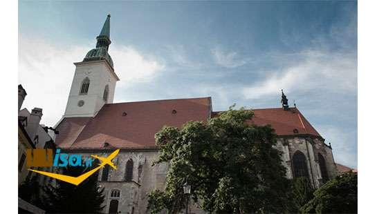 بهترین تور اسلواکی ( نمای بیرونی کلیسای جامع سنت مارتین)