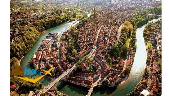 قیمت تور سوئیس ( نمای زیبا از رود Aare برن)