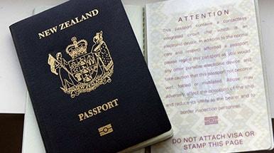 فرم ویزای نیوزلند