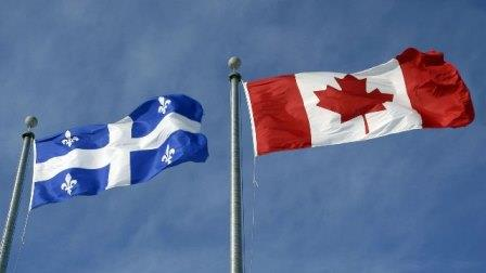پرچم های کانادا و کبک